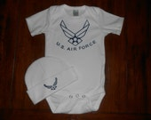 U.S. Air Force Baby Bodysuit and Beanie Set
