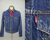 Levis Big E Indigo Blue Denim Ranch Hand Two Pocket Jean Jacket