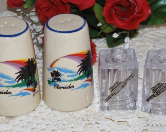2 collectible Florida vintage salt and pepper shakers sets - Florida's Silver Springs