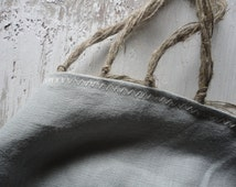 NEW: handmade rug / throw from two layers of natural heavy linen, in different colors
