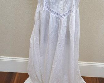 Vintage 1990s summer cotton dress Laura Ashley Prairie maxi Dress Size Large Retro Hippy Style Peasant Dress 70s Fashion - Festival Dress