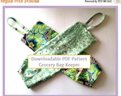 DECEMBER DEAL Plastic Bag Keeper, Grocery Bag Holder, Kitchen, Home Office or Dorm Organization, PDF Download Pattern for Smaller Sized Bag
