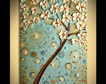 Painting on canvas Landscape Oil Acrylic art Gift Modern Home ready to hang Under the Blue Sky