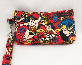 Wonder Woman, Super Hero, Cosplay, Nerd, Geek, Comics, Comic, Purse, Bag, Wristlet, Handbag, Pouch, Clutch, Zipper Pouch