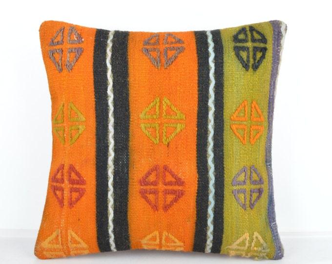 Kilim pillow, Kilim Pillow Cover k504, Turkish Pillow, Kilim Cushions, Bohemian Decor, Moroccan Pillow,  Bohemian Pillow, Turkish Kilim