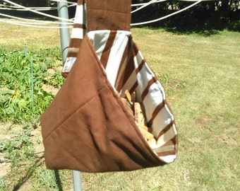 Small Laundry Clothespin Bag