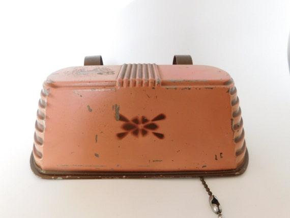Vintage Clip On Bed Lamp Headboard Metal Art Deco Style