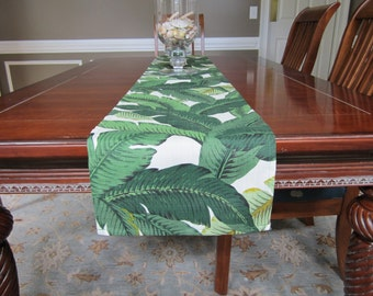 Table Runner - Tropical Palm Leaf - Palm Springs - Martinique - Beverly Hills Hotel - Palm Beach - Palm Leaf