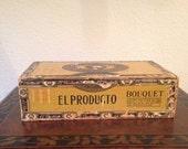 Vintage El Producto Wooden Cigar Box