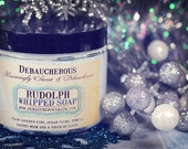 NEW~ Rudolph Whipped Soap~ Snow covered firs, sugar plums, pomelo, earthy musk and a touch of clove.