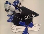 Graduation Cap Door Hanger, Graduating 2016, Diploma, Kindergarten, Senior, College Grad