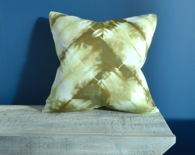 Green Shibori Pillow Cover 20x20 inches - Moss