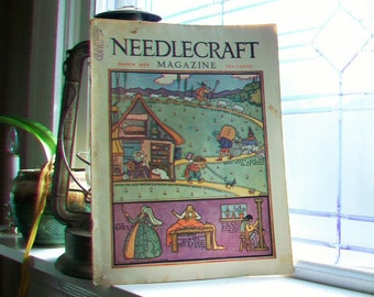 1929 Needlecraft Magazine March Issue Vintage 1920s Sewing