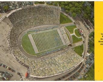 Linen Postcard, Legion Field Stadium, Birmingham, Alabama, Football