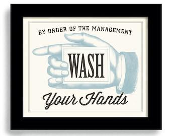 Bathroom Decor, Wash Your Hands, Bathroom Art, Bath Time, Laundry Room Decor, Kitchen Art, Wall Art Print