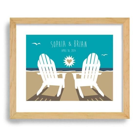 Beach Theme Wedding Photo Albums : Beach wedding decor personalized gift
