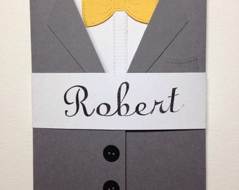 Ring bearer card will you be our ring bearer? Suit card for wedding