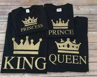 King Queen Prince Princess One Piece or Shirt