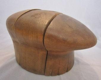 Vintage Wood Hat Block Mold