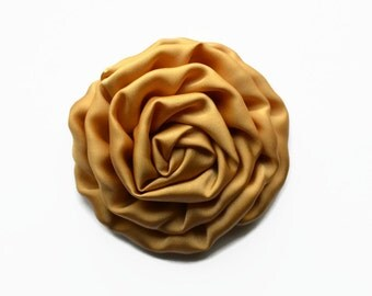 "Tan Satin Rosette. 2.5"" TAN Satin Rosette. Set of 2 flowers. ~~ Hazel Collection."