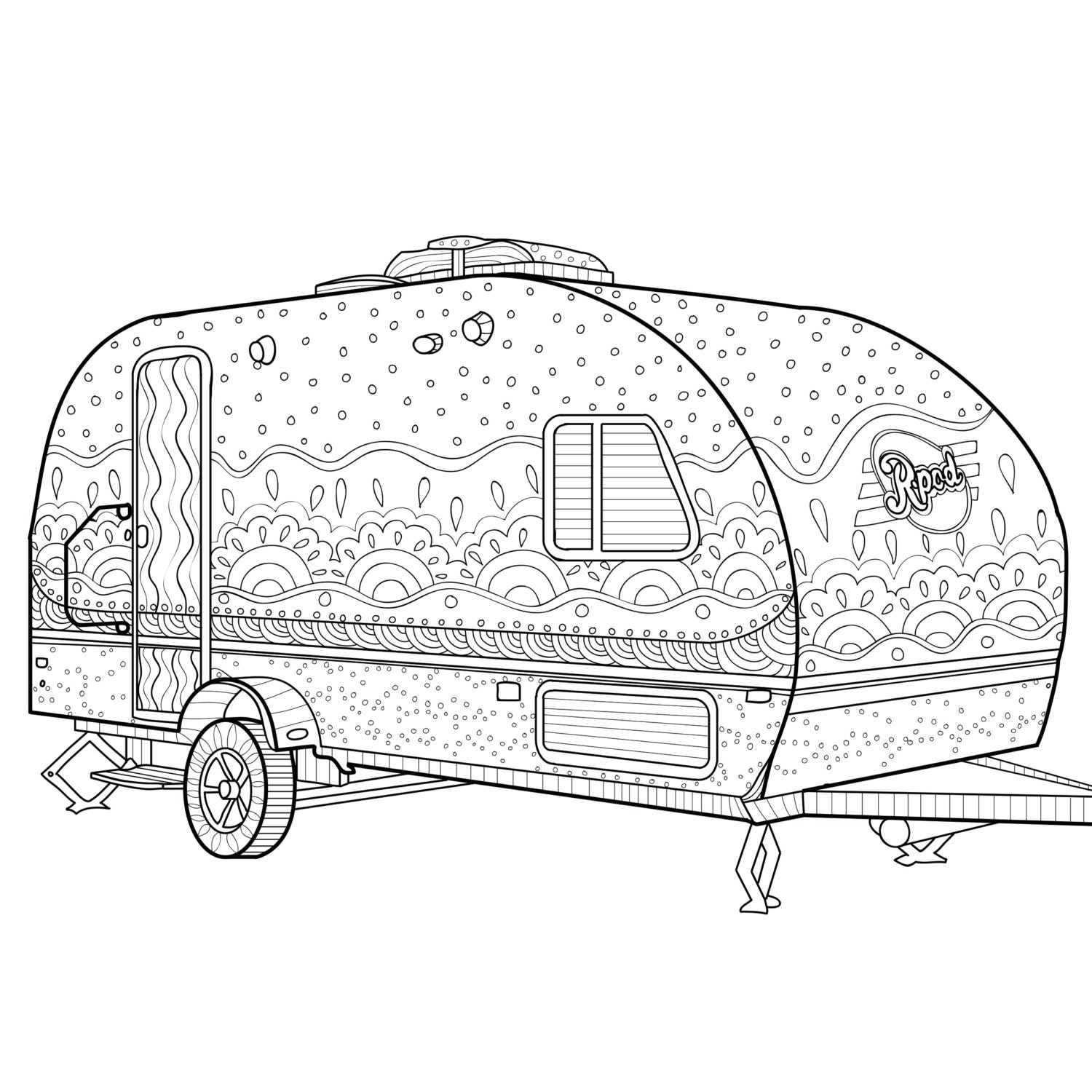 This is a graphic of Clean Free Printable Camping Coloring Pages
