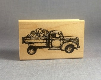 Farm Truck Rubber Stamp