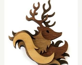 SALE Woodland Brooch: Stag