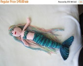 ON SALE - 10% OFF Crochet toy mermaid.. stuffed water nymph..Ariel