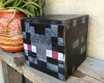 Minecraft Enderman, wooden memory box