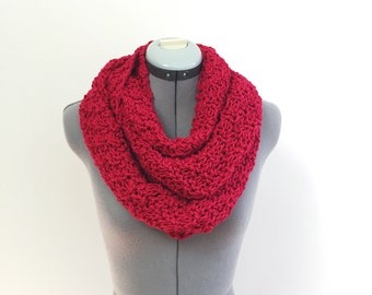 SALE- Red Infinity Scarf