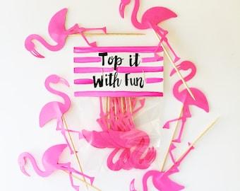 Flamingo Toppers, Pink Flamingo, Flamingo party, Flamingo shower, Flamingo decor, Flamingo, Flamingo birthday, Flamingo decorations, pink