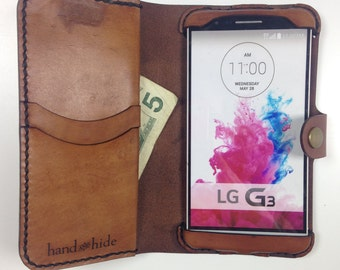 LG G3 Leather Wallet Case - No Plastic - Clearance Sale / Scratch and Dent