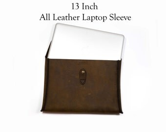 Leather Laptop Case 13 Inch, leather macbook case, leather laptop sleeve