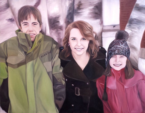 Custom Portrait - Oil Painting - Custom Painting for Photo - Family Portrait