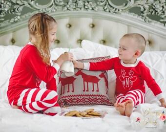 Kids Christmas Pajamas- Christmas Pajamas- Baby Pajamas- Christmas Outfit- Baby Christmas- Children's Christmas Pajamas- Baby Christmas