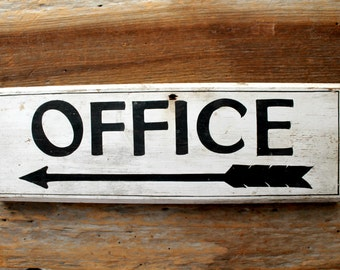 vintage wooden sign--OFFICE