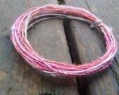Fiber Wire Core Handspun Art Yarn 24 gauge wire Red Riding Hoods Wolf- Just Kidding