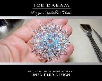 Ice Dream beaded snowflake pdf tutorial SAVE 30%