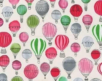 Kaufman - Paris Adventure by Margaret Berg - Hot Air Balloons - Garden