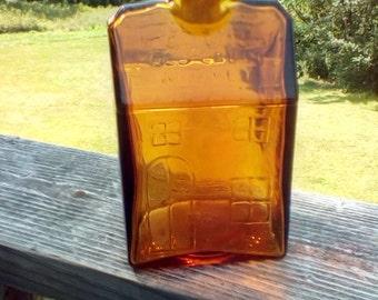 E.C. Booz Whiskey amber bottle 1840