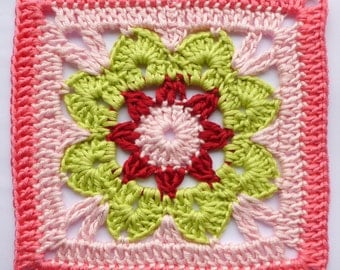 Instant Download Crochet PDF pattern - LD122 Afghan block