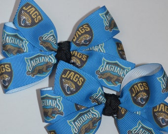 Set of Two Jacksonville Jaguars Hair Bows Football