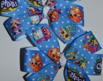 Set of Two Shopkins Bows Blue