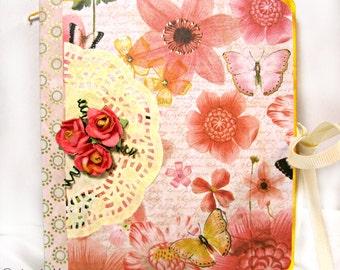 Butterfly Floral Mini Album - Junk Journal - Scrapbook - Memory Album