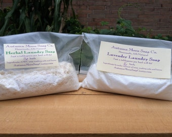 Laundry Soap Sample for 16 loads, all-natural, eco-friendly, half-pound