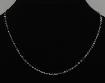 6  1 mm Silver Chain necklace 18 inches petite silver plated or bronze chain - Lead and Nickel free