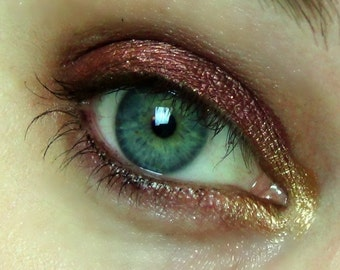Bookworm Eyeshadow- (Hermione Granger Inspired) Burgundy-Red with Gold Sparkles