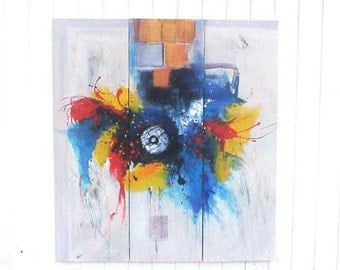 Ultra Cool Modern Abstract Oil Painting Triptych