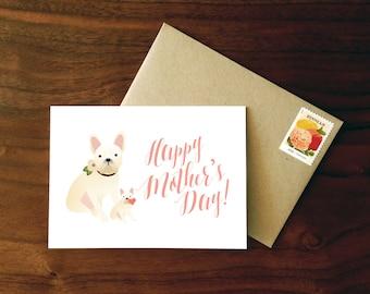 Custom French Bulldog Mother's Day Card