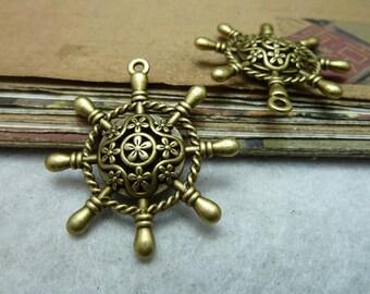 10pcs 35*38mm antique bronze anchor charms pendant C7813